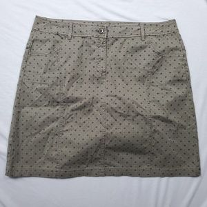 Orvis Military Green Polka Dot Multi Design Skirt